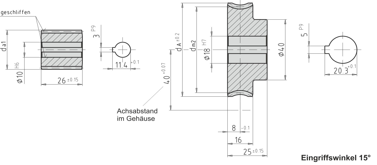 Schneckenradsatz A40