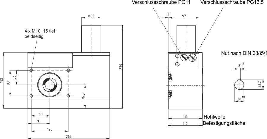 GP30 Maßzeichnung