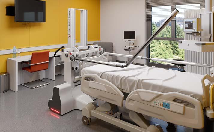 Krankenzimmer mit Patientenumlagerungssystem